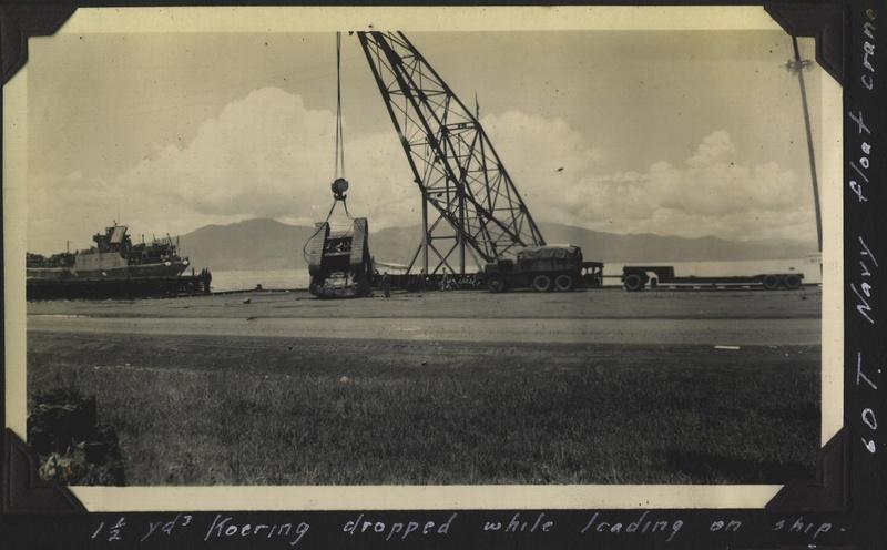 WWII 60T float crane