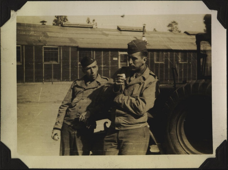 WWII 614th two men