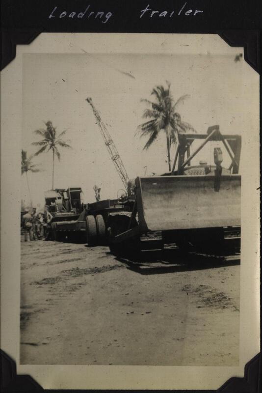 WWII 618 loading trailer