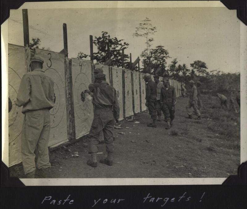 WWII NG rifle range paste tgts