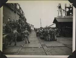 WWII PI Going home troop movement