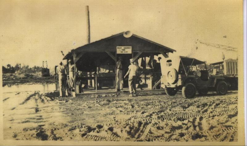 WWII PI heavy equip yard a