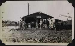 WWII PI heavy equip yard b