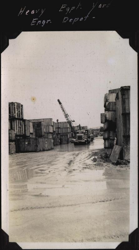 WWII PI heavy equip yard engr depot