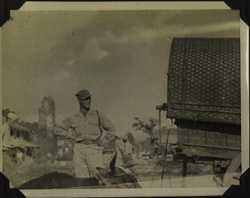 WWII PI man animal cart