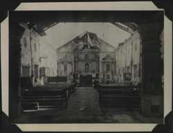 WWII PI poss Asingan church interior