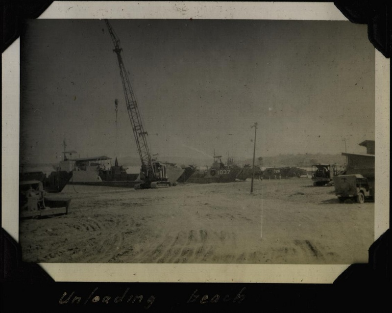 WWII PI unloading beach