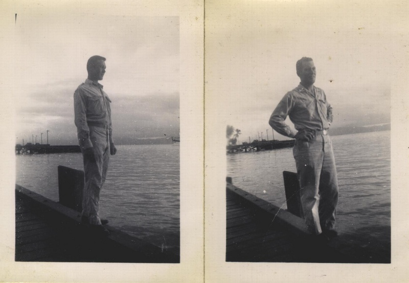 WWII men on dock