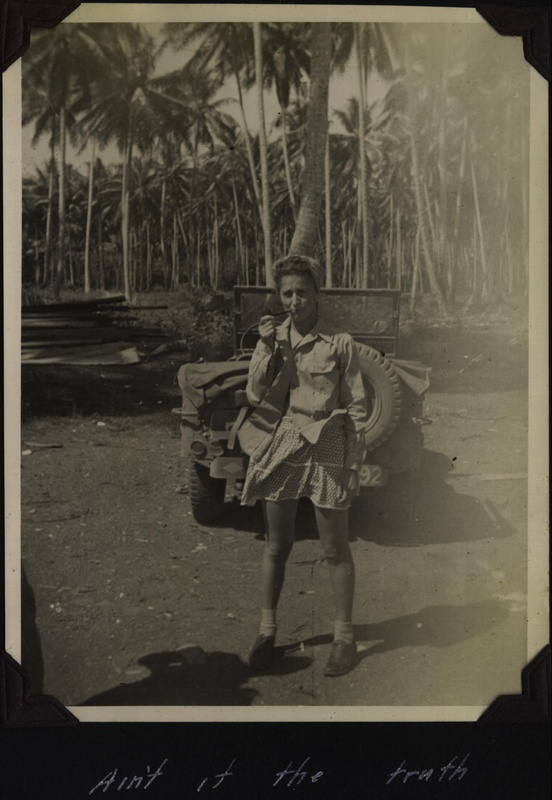 WWII woman with pipe