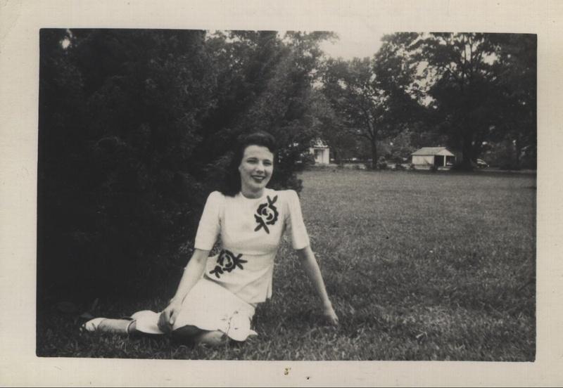 Woman lawn