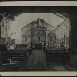 WWII PI poss Asingan church interior