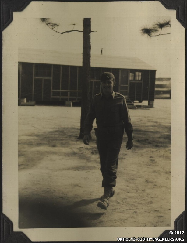 WWII 614th person walking