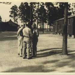 WWII Claiborne huddle