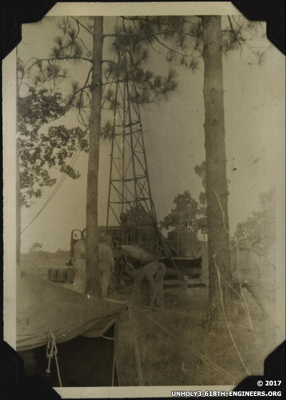 WWII Claiborne well rig 1
