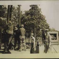 WWII Claiborne well rig 2