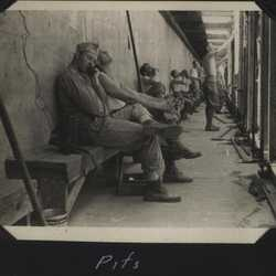 WWII Rifle range pits 1