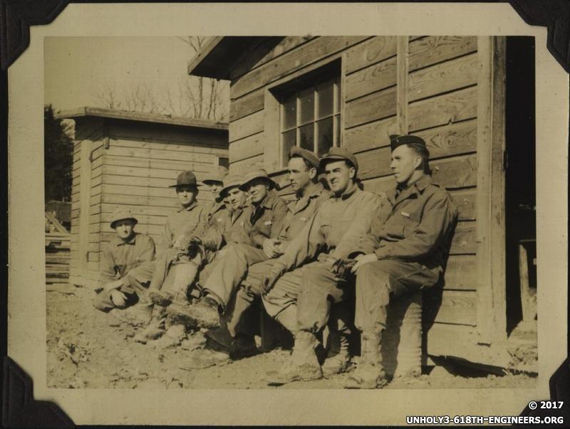 WWII men sitting