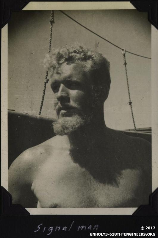 WWII Voyage to Manila signalman