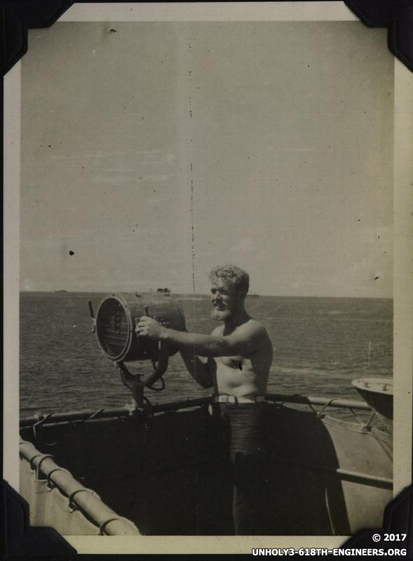 WWII Voyage to Manila signalman working